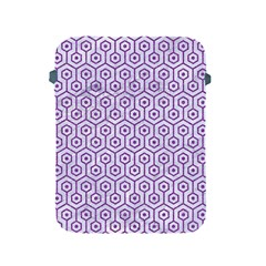 Hexagon1 White Marble & Purple Denim (r) Apple Ipad 2/3/4 Protective Soft Cases by trendistuff