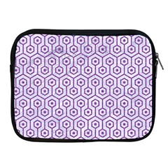 Hexagon1 White Marble & Purple Denim (r) Apple Ipad 2/3/4 Zipper Cases by trendistuff