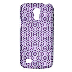 Hexagon1 White Marble & Purple Denim (r) Galaxy S4 Mini by trendistuff