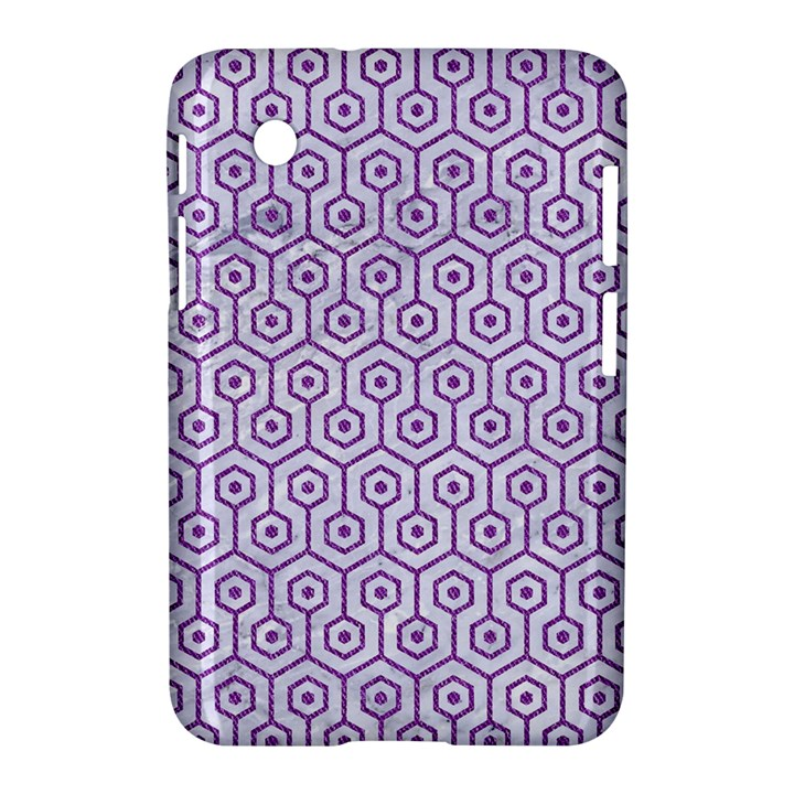 HEXAGON1 WHITE MARBLE & PURPLE DENIM (R) Samsung Galaxy Tab 2 (7 ) P3100 Hardshell Case