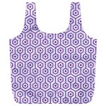 HEXAGON1 WHITE MARBLE & PURPLE DENIM (R) Full Print Recycle Bags (L)  Back