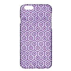 Hexagon1 White Marble & Purple Denim (r) Apple Iphone 6 Plus/6s Plus Hardshell Case by trendistuff