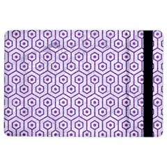 Hexagon1 White Marble & Purple Denim (r) Ipad Air 2 Flip by trendistuff
