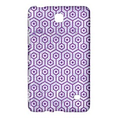 Hexagon1 White Marble & Purple Denim (r) Samsung Galaxy Tab 4 (7 ) Hardshell Case  by trendistuff
