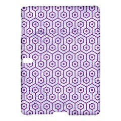 Hexagon1 White Marble & Purple Denim (r) Samsung Galaxy Tab S (10 5 ) Hardshell Case  by trendistuff
