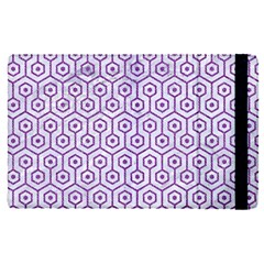 Hexagon1 White Marble & Purple Denim (r) Apple Ipad Pro 12 9   Flip Case by trendistuff