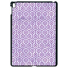 Hexagon1 White Marble & Purple Denim (r) Apple Ipad Pro 9 7   Black Seamless Case