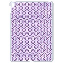 Hexagon1 White Marble & Purple Denim (r) Apple Ipad Pro 9 7   White Seamless Case by trendistuff