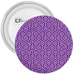 HEXAGON1 WHITE MARBLE & PURPLE DENIM 3  Buttons Front