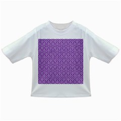 HEXAGON1 WHITE MARBLE & PURPLE DENIM Infant/Toddler T-Shirts