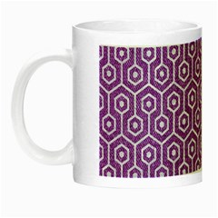 HEXAGON1 WHITE MARBLE & PURPLE DENIM Night Luminous Mugs
