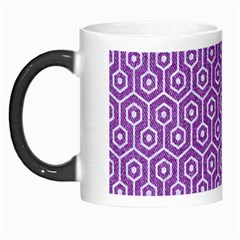 HEXAGON1 WHITE MARBLE & PURPLE DENIM Morph Mugs
