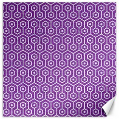 Hexagon1 White Marble & Purple Denim Canvas 20  X 20   by trendistuff