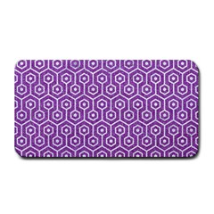 HEXAGON1 WHITE MARBLE & PURPLE DENIM Medium Bar Mats