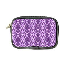 HEXAGON1 WHITE MARBLE & PURPLE DENIM Coin Purse