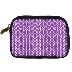 HEXAGON1 WHITE MARBLE & PURPLE DENIM Digital Camera Cases