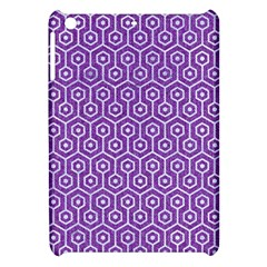 HEXAGON1 WHITE MARBLE & PURPLE DENIM Apple iPad Mini Hardshell Case