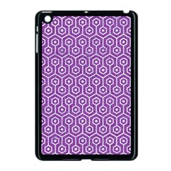 HEXAGON1 WHITE MARBLE & PURPLE DENIM Apple iPad Mini Case (Black)