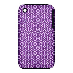 HEXAGON1 WHITE MARBLE & PURPLE DENIM iPhone 3S/3GS