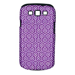 HEXAGON1 WHITE MARBLE & PURPLE DENIM Samsung Galaxy S III Classic Hardshell Case (PC+Silicone)