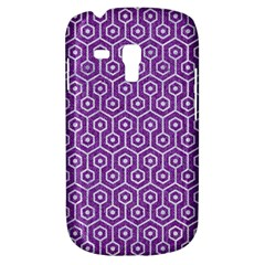 HEXAGON1 WHITE MARBLE & PURPLE DENIM Galaxy S3 Mini