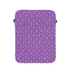 HEXAGON1 WHITE MARBLE & PURPLE DENIM Apple iPad 2/3/4 Protective Soft Cases