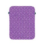 HEXAGON1 WHITE MARBLE & PURPLE DENIM Apple iPad 2/3/4 Protective Soft Cases Front