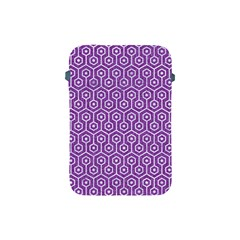 HEXAGON1 WHITE MARBLE & PURPLE DENIM Apple iPad Mini Protective Soft Cases