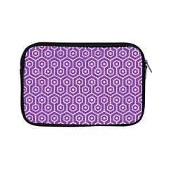 HEXAGON1 WHITE MARBLE & PURPLE DENIM Apple iPad Mini Zipper Cases