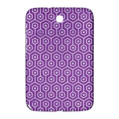 Hexagon1 White Marble & Purple Denim Samsung Galaxy Note 8 0 N5100 Hardshell Case