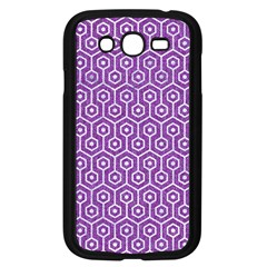 HEXAGON1 WHITE MARBLE & PURPLE DENIM Samsung Galaxy Grand DUOS I9082 Case (Black)