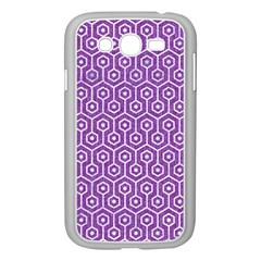 HEXAGON1 WHITE MARBLE & PURPLE DENIM Samsung Galaxy Grand DUOS I9082 Case (White)