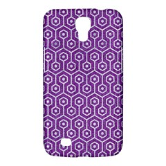 HEXAGON1 WHITE MARBLE & PURPLE DENIM Samsung Galaxy Mega 6.3  I9200 Hardshell Case