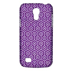 Hexagon1 White Marble & Purple Denim Galaxy S4 Mini by trendistuff