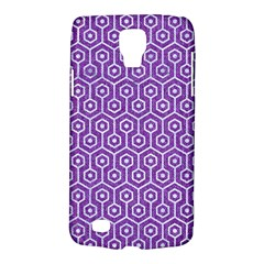 HEXAGON1 WHITE MARBLE & PURPLE DENIM Galaxy S4 Active