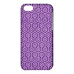 HEXAGON1 WHITE MARBLE & PURPLE DENIM Apple iPhone 5C Hardshell Case