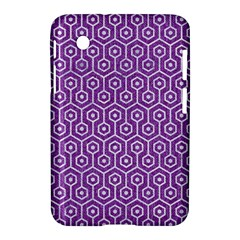 HEXAGON1 WHITE MARBLE & PURPLE DENIM Samsung Galaxy Tab 2 (7 ) P3100 Hardshell Case