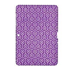 HEXAGON1 WHITE MARBLE & PURPLE DENIM Samsung Galaxy Tab 2 (10.1 ) P5100 Hardshell Case