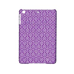 HEXAGON1 WHITE MARBLE & PURPLE DENIM iPad Mini 2 Hardshell Cases