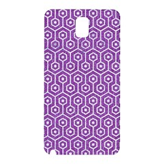 HEXAGON1 WHITE MARBLE & PURPLE DENIM Samsung Galaxy Note 3 N9005 Hardshell Back Case