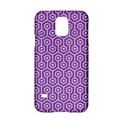 HEXAGON1 WHITE MARBLE & PURPLE DENIM Samsung Galaxy S5 Hardshell Case