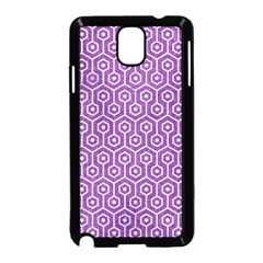 Hexagon1 White Marble & Purple Denim Samsung Galaxy Note 3 Neo Hardshell Case (black) by trendistuff