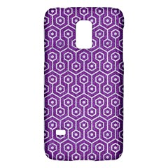 HEXAGON1 WHITE MARBLE & PURPLE DENIM Galaxy S5 Mini