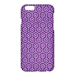 HEXAGON1 WHITE MARBLE & PURPLE DENIM Apple iPhone 6 Plus/6S Plus Hardshell Case