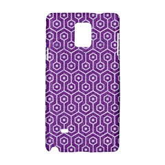 HEXAGON1 WHITE MARBLE & PURPLE DENIM Samsung Galaxy Note 4 Hardshell Case