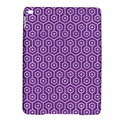 HEXAGON1 WHITE MARBLE & PURPLE DENIM iPad Air 2 Hardshell Cases