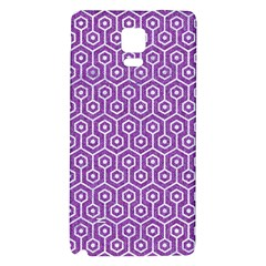HEXAGON1 WHITE MARBLE & PURPLE DENIM Galaxy Note 4 Back Case