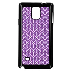 HEXAGON1 WHITE MARBLE & PURPLE DENIM Samsung Galaxy Note 4 Case (Black)