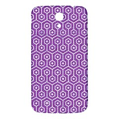 HEXAGON1 WHITE MARBLE & PURPLE DENIM Samsung Galaxy Mega I9200 Hardshell Back Case