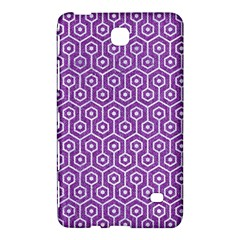 HEXAGON1 WHITE MARBLE & PURPLE DENIM Samsung Galaxy Tab 4 (7 ) Hardshell Case